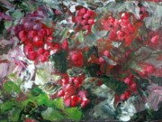 Print On Acrylic Prints - Red berries Print by Saga Sabin