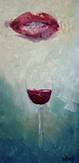 Wine Canvas Paintings - Red by Bill Werle