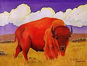 Bison Originals - Red Bison by Raymond Schuster