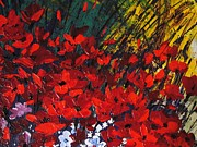 Pallet Knife Prints - Red Blossom Print by Shilpi Singh