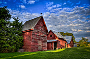 Red Barns Photos - Red Blue and Green Barns at Windsor Castle by Williams-Cairns Photography LLC