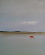 Cape Cod Paintings - Red Boat by Michael Marrinan
