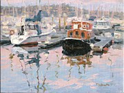 Sausalito Art - Red Boat by Tania Yukhimets