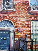 Dublin Painting Originals - Red Brick Building in Dublin by Aleksandra Buha