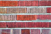 Rectangles Photos - Red Brick Wall by Henrik Lehnerer