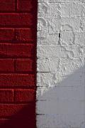 Red Bricks Prints - Red Brick White Brick 2 Print by Robert Ullmann
