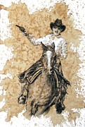 Cowgirl Originals - Red Buffalo Gal by Debra Jones