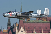 North American Aviation Prints - Red Bull North American B-25j Mitchell Print by Anton Balakchiev