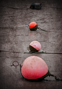 Harbour Digital Art Prints - Red Buoys  Print by Svetlana Sewell