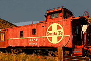 Western Art Digital Art - Red Caboose by David Lee Thompson