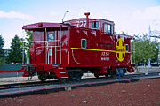 Old Caboose Posters - Red Caboose Poster by Sharon I Williams