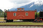 Caboose Photo Prints - Red Caboose Print by Sophie Vigneault