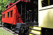 Caboose Photos - Red Caboose by Thomas R Fletcher