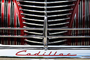 Old Car Art - Red Cad by Dennis Hedberg