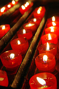 Red Candles Print by Carlos Caetano