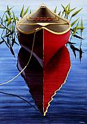 Ed Novak - Red Canoe in Pickerel...