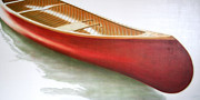 Red Cedar Painting Acrylic Prints - Red Canoe Acrylic Print by Janice Tanton