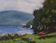 Canoes Originals - Red Canoes by Ken Fiery