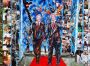 President Mixed Media Originals - Red Carped by Joseph Lawrence Vasile
