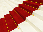 Rendered Prints - Red Carpet Print by Gualtiero Boffi