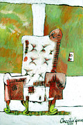 Red Chair After A Drawing Print by Charlie Spear