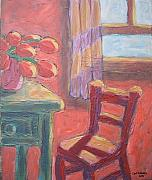 Carl Stevens - Red Chair in Orange Room