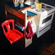 Kitchen Chair Paintings - Red Chair by William Harris