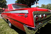 Red Impala Prints - Red Chevrolet Impala SS . 5D16460 Print by Wingsdomain Art and Photography
