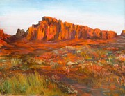 Jack Skinner Pastels Framed Prints - Red Cliffs Framed Print by Jack Skinner