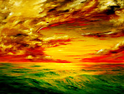 Cloudy Paintings - Red Cloud by Nelson