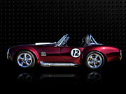 Sportscar Digital Art - Red Cobra by Douglas Pittman