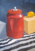 SharonJoy Mason - Red Coffee Pot