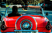Wheels Mixed Media Posters - Red Convertible Poster by adSpice Studios