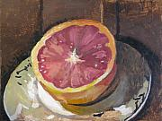 Grapefruit Painting Prints - Red Cooper Print by Robert Bissett