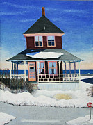 Barbara Nolan - Red Cottage Winter