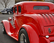Deuce Coupe Framed Prints - Red Coupe Framed Print by Dennis Hedberg