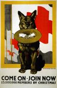 Pet Poster Prints - Red Cross Poster, 1917 Print by Granger