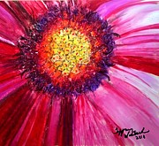 Pink Floral Painting Posters - Red Daisy Poster by Tiffany Westrich Founder and CEO
