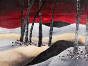 Intense Paintings - Red Dawn by Tara Thelen