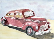 Oldies Prints - Red Dodge Print by Eva Ason