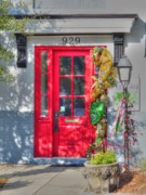 Red Door Prints - Red Door at Night -- Sailors Delight Print by David Bearden