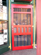 Grocery Store Prints - Red Door Print by David Bearden