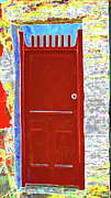 Red Door Print by Dulce Levitz