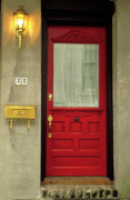 Chatham Posters - Red Door Poster by Eggers   Photography