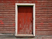 Painted Wood Prints - Red Door Print by Odd Jeppesen