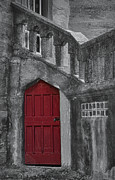 Door Posters - Red Door Poster by Susan Candelario