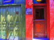 Red Doors Prints - Red Doors of Boston 3 Print by Julie Lueders