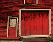 Red Doors Prints - Red Doors Print by Perry Webster