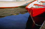 Peter J Sucy Metal Prints - Red Dory Metal Print by Peter J Sucy