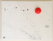 Action Reliefs - Red dot by Maria Anna Van Driel